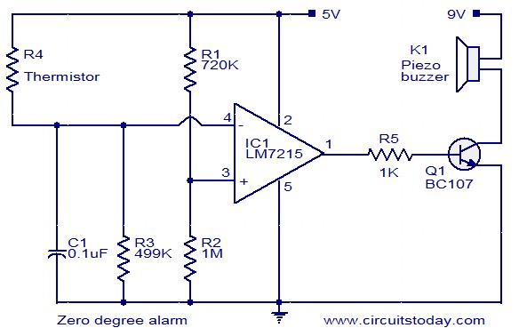 zero-degree-alarm-circuit