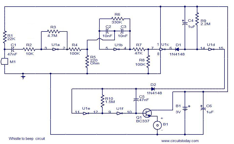 whistle to beep circuit electronic circuits and diagrams rh circuitstoday com