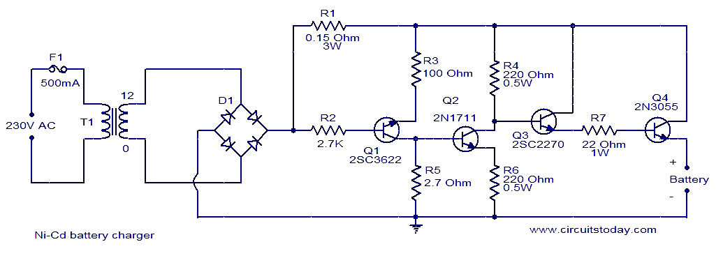 ni cd battery charger circuit ni cd battery charger circuit electronic circuits and diagram Battery Charger Schematic Diagram at suagrazia.org