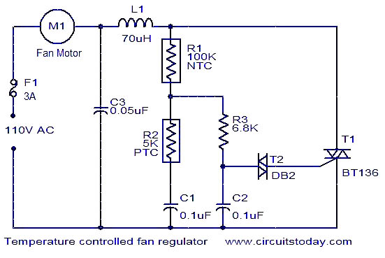 temperature controlled fan regulator temperature controlled fan regulator electronic circuits and electric fan circuit diagram at gsmx.co