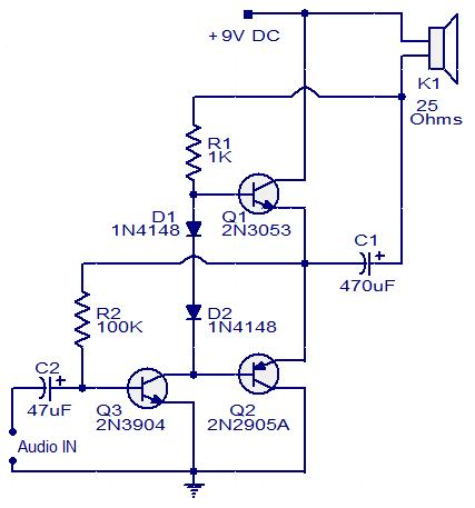 three-transistor-audio-amplifier-circuit