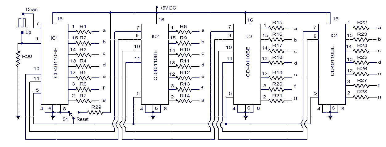 up down counter circuit