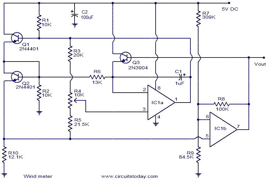 wind meter circuit wind meter electronic circuits and diagram electronics projects Anemometer Arduino Feet per Minute at crackthecode.co