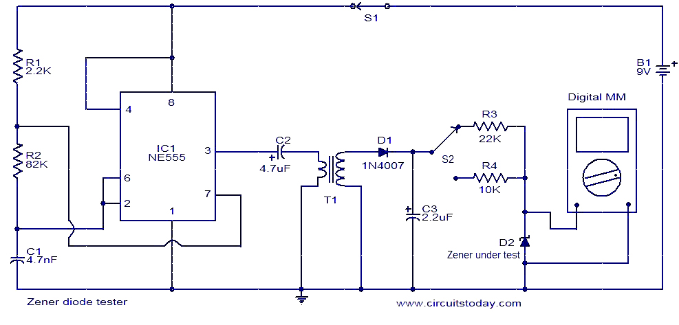zener diode tester circuit zener diode tester circuit diagram circuit and schematics diagram diode wiring diagram at n-0.co