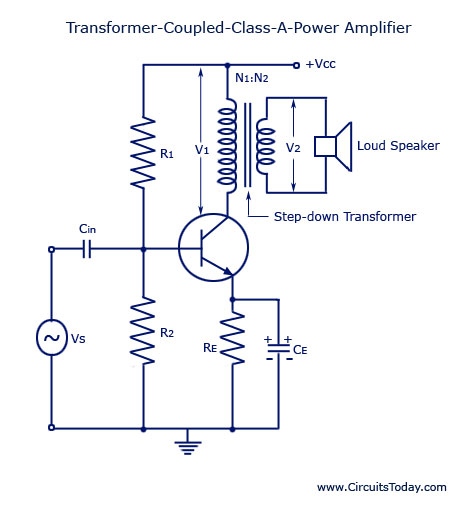 Transformer-Coupled-Cl-A-Power-Amplifier Home Electrical Wiring Diagrams Volts on