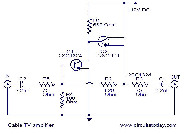 Cable Tv Amplifier Electronic Circuits And Diagrams Electronic