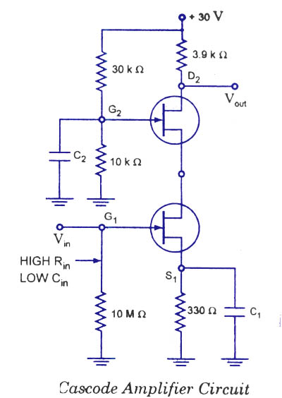 Cascode amplifier circuit