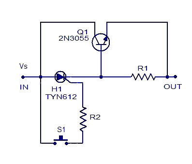 simple electronic fuse electronic circuits and diagrams rh circuitstoday com simple electronic schematic diagrams simple electric circuit diagram