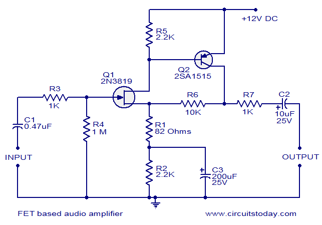 fet based audio preamplifier circuit fet based audio preamplifier electronic circuits and diagrams