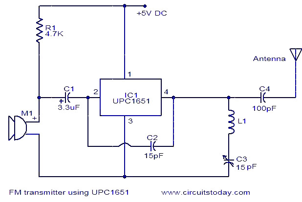 Wireless Microphone Transmitter And Receiver Circuit Diagram | Fm Mic Circuit Diagram Wiring Diagram