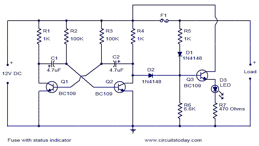 fuse with status indicator fuse with status indicator electronic circuits and diagram fuse wiring diagram at crackthecode.co