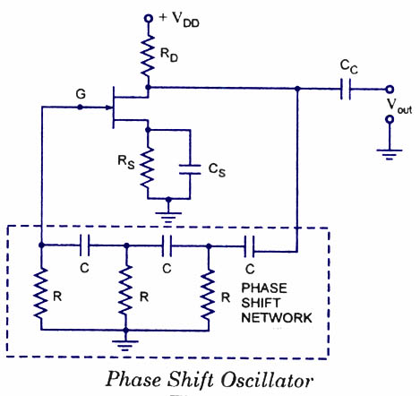 FET-phase shift oscillator