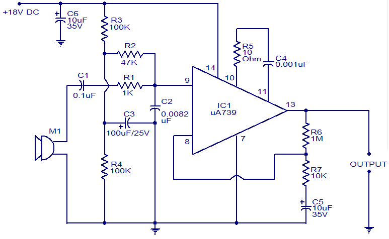 preamplifier for dynamic microphones electronic circuits and rh circuitstoday com mic preamp schematic diagram mic preamp schematic diagram