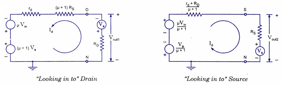 thevenins-equivalent-circuit-fet amplifier