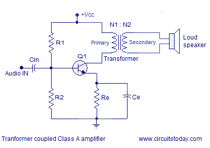 transformer coupled class a power amplifier