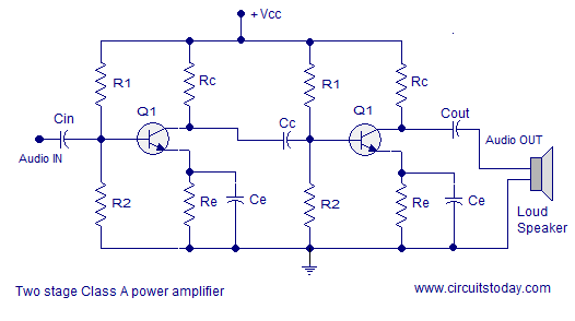 rc couple class a amplifier