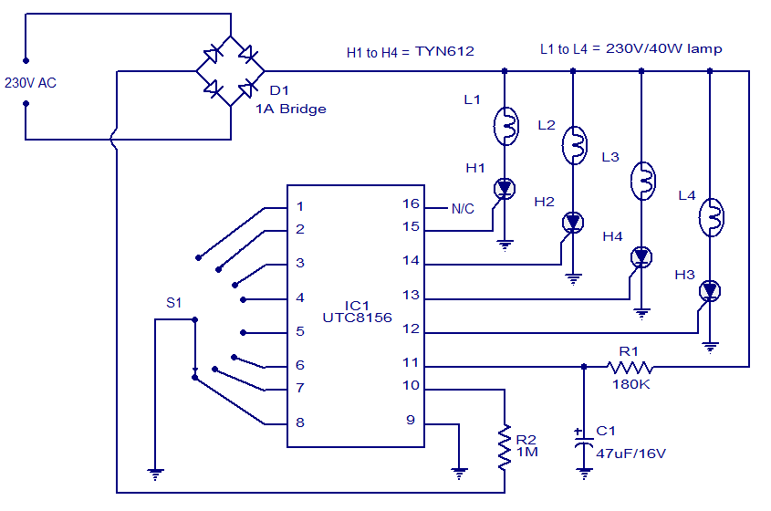 [DIAGRAM_38ZD]  8 function christmas lamp | Light Controller Wiring Diagram |  | CircuitsToday