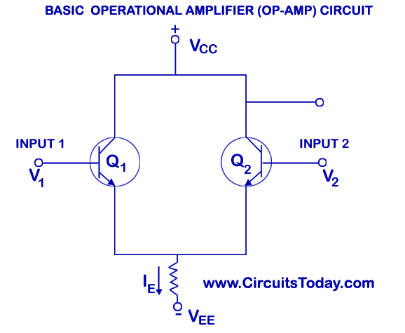 Basic Operational Amplifier (Op-Amp) Circuit