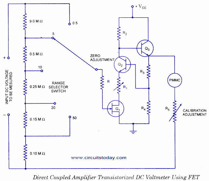 DC Voltmeter using FET