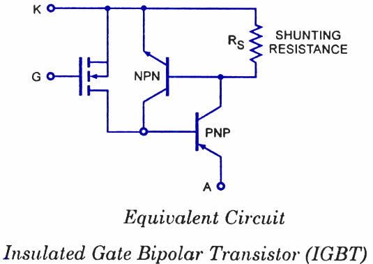 Igbt insulated gate bipolar transistors electronic circuits and igbt equivalent circuit ccuart Image collections