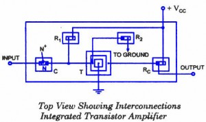 Integrated transistor amplifier - Interconnections