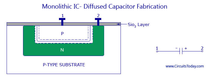 Monolithic IC - Diffused Capacitor Fabrication
