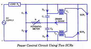 SCR Power Control Circuit