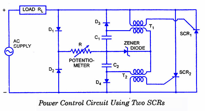 SCR-Power-Control-Circuit H Bridge Motors Wiring Schematics on