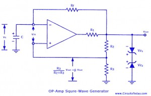 op amp astable multi vibrator