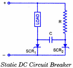scr applications - electronic circuits and diagrams ... dc circuit breaker wiring diagram