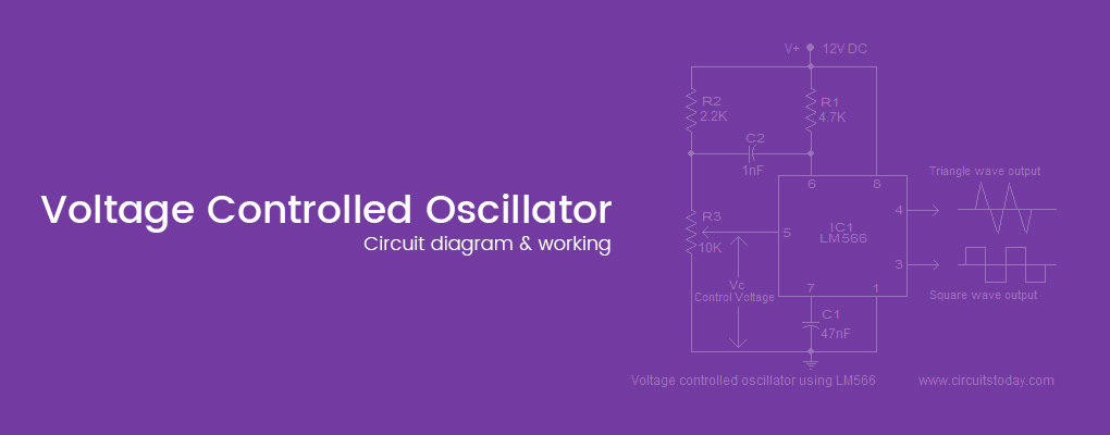Voltage controlled oscillator and circuit