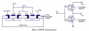 N-channel and P channel CMOS connections