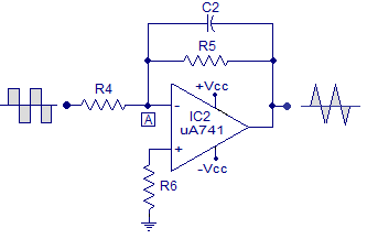 integrator using opamp