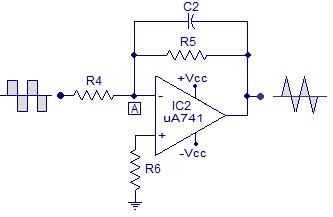 integrator using opamp