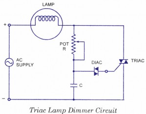 triac lamp dimmer circuit