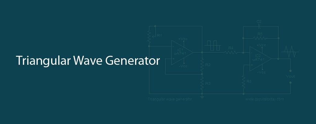 Triangular wave generator using opamp  Circuit diagram