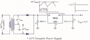 15 volt power supply