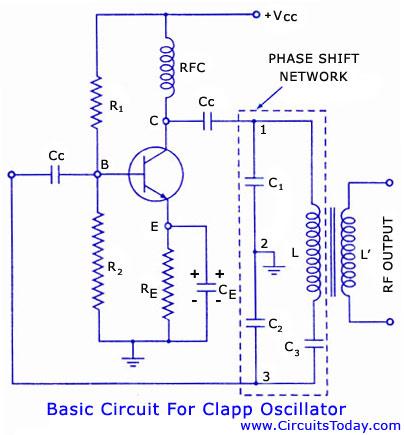 Clapp Oscillator Circuit