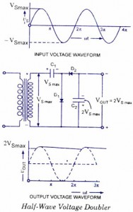 Half-wave voltage doubler
