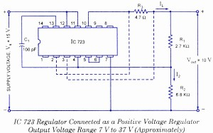 IC 723 As positive voltage regulator