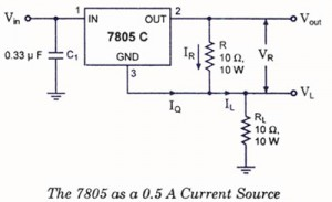 IC 7805 as current source