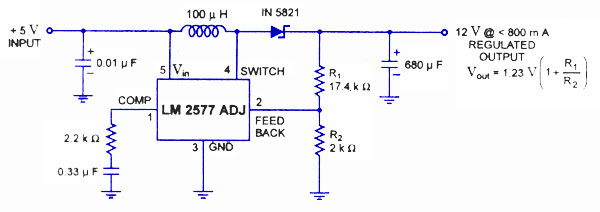 LM 2577 switching regulator