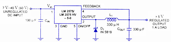LM2575 switching regulator