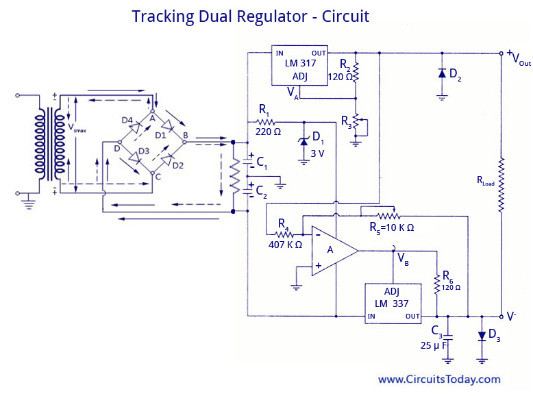 Tracking Dual Regulator - Circuit
