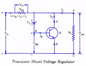 Transistor Shunt Voltage Regulator