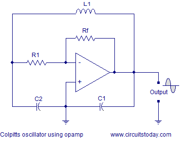 colpitts oscillator using opamp