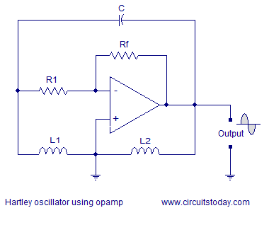 opamp hartley oscillator