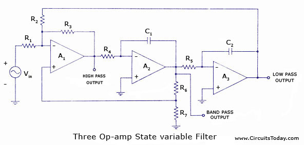 State Variable Filters - Electronic Circuits and Diagrams