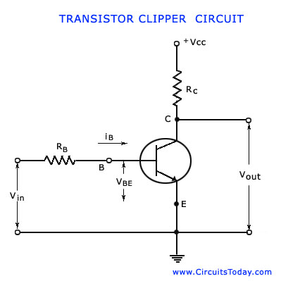 Transistor Clipping Circuit-Working,Circuit Diagram,WaveformsCircuitsToday