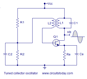 Image result for tuned collector oscillator